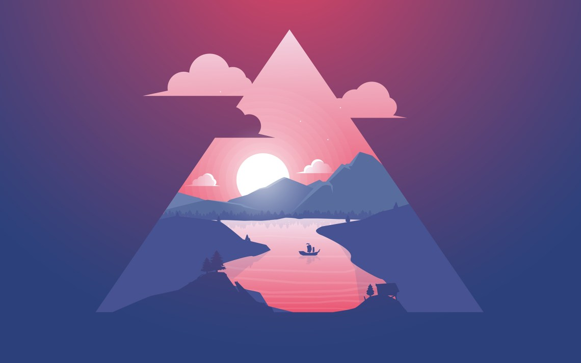 sunset_scenery_minimal_4k-wide