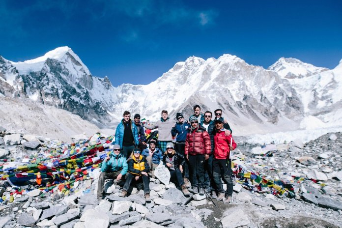 david-east-and-his-group-at-base-camp