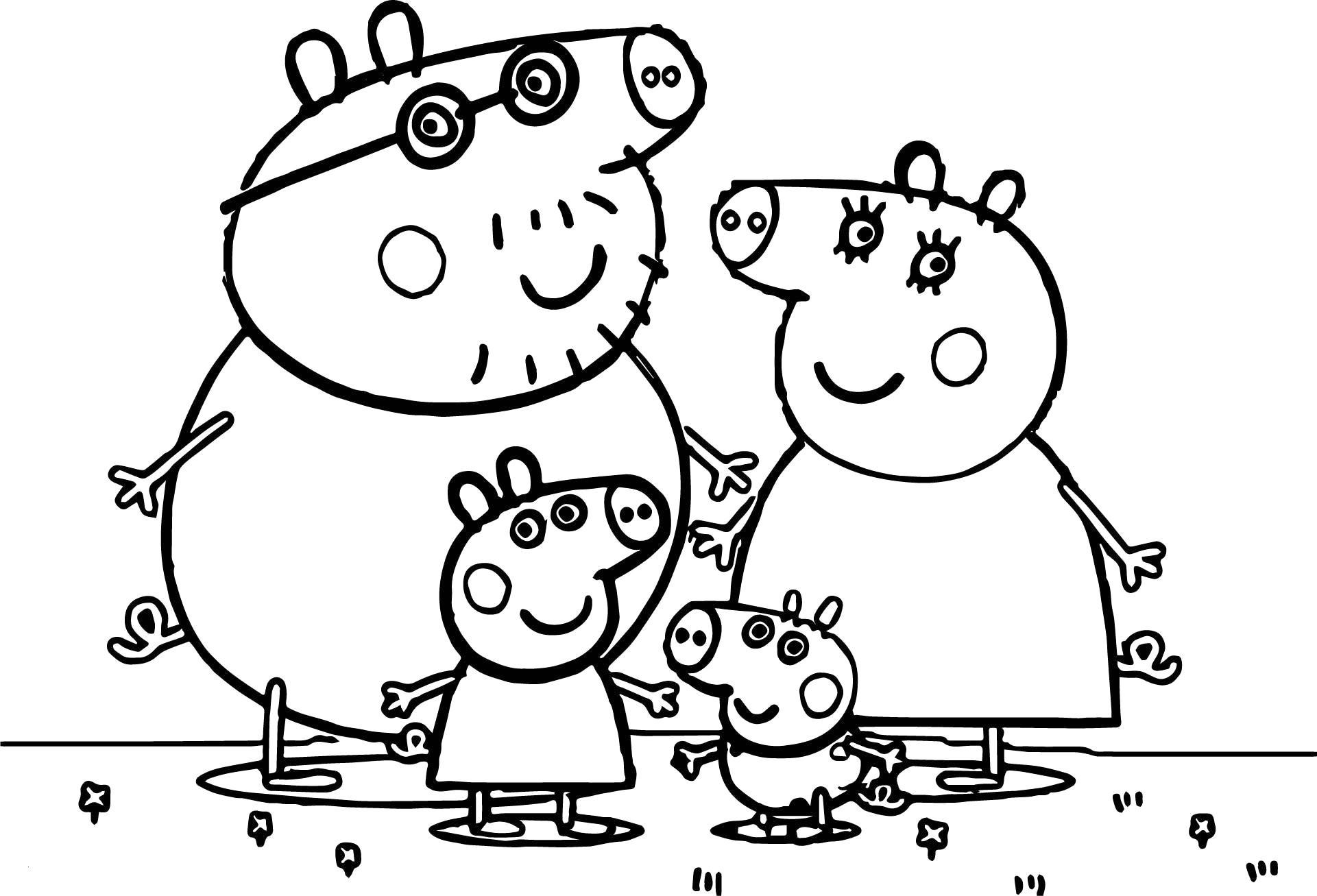 Peppa Pig Para Colorir [Imprimir]