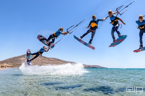 Sportfotografie Kitesurfen Prasonisi Beach Rhodos - emotioninpictures / Mario Bühner