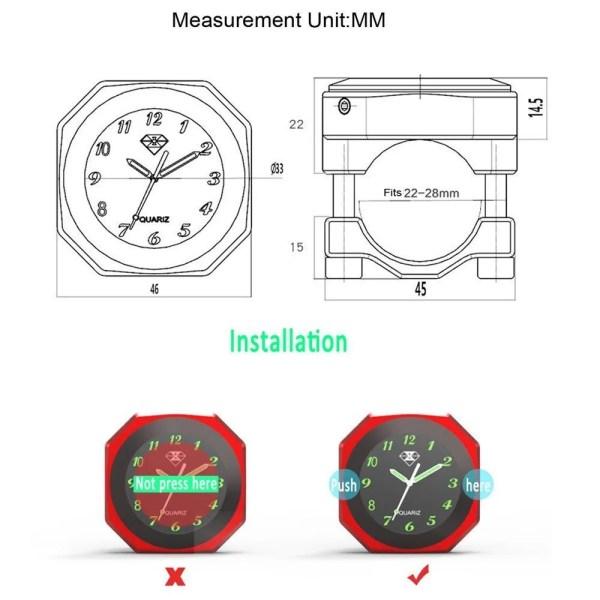 Spirit Beast  Luminous Handlebar Mount Clock