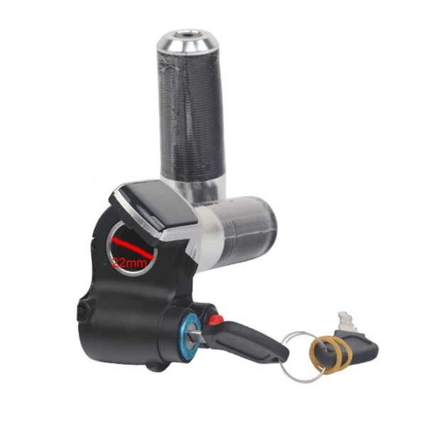 36V 48V  60V Electric Bike Throttle Twist Grip with Lock switch and Speed Cruise