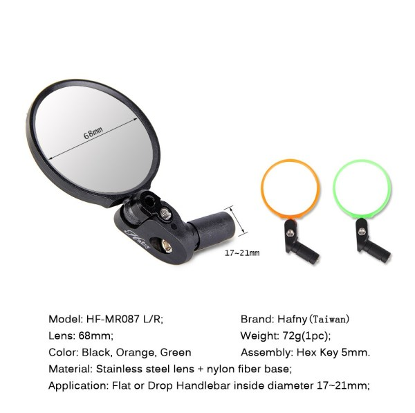 Cycling Accessories Back Review Mirror Handlebar End Bike Mirror