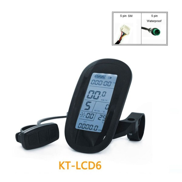 Ebike Intelligent Control Panel 24V 36V 48V KT LCD6  Display for Electric Bicycle