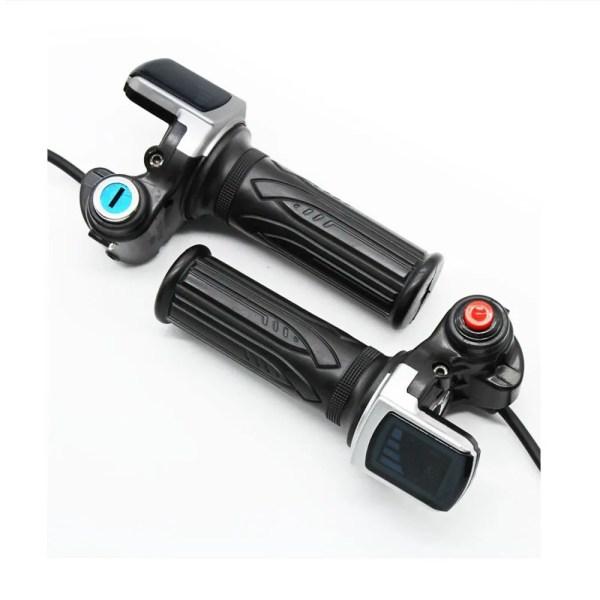 Electric Bike Twist Throttle  36v 48v LCD Speed Display Handlebar Throttle Universal