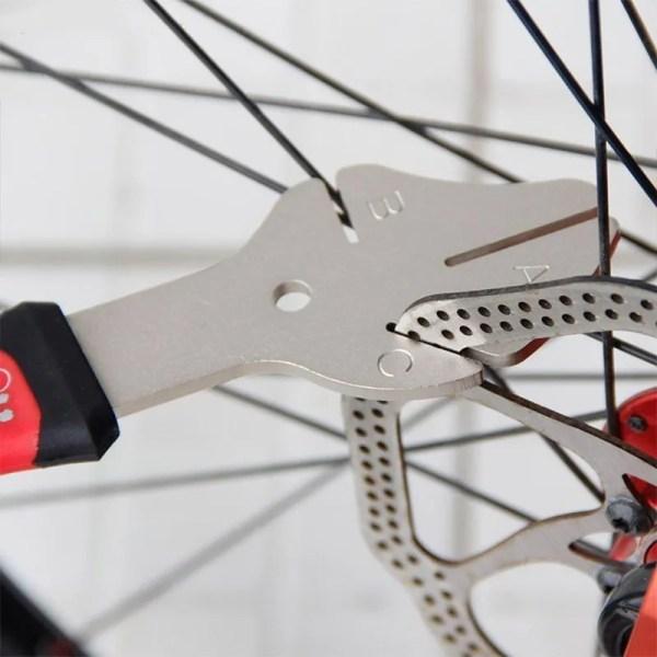 MTB Bike Disc Rotor Flattening Tool Bicycle Brake Disc Adjuster Bike Disk Tray Correction Tool
