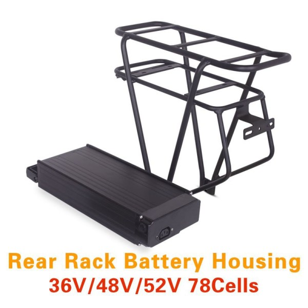 Electric Bicycle Lithium Battery Box And Double Layer Luggage Rack