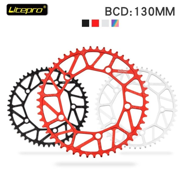 Litepro Ultralight Bicycle Chainring 130 BCD Folding Bike Single Speed Disc Positive and Negative Teeth