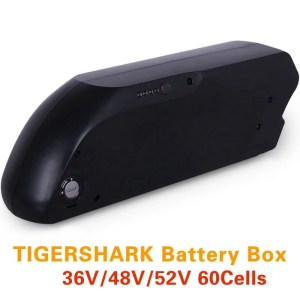 Electric bike 48V Lithium Battery Ebike Tigershark Downtube Battery Box
