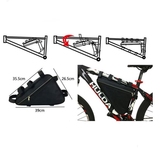 Electric Bicycle Triangle Battery Bag 36V 48V 60V 72V