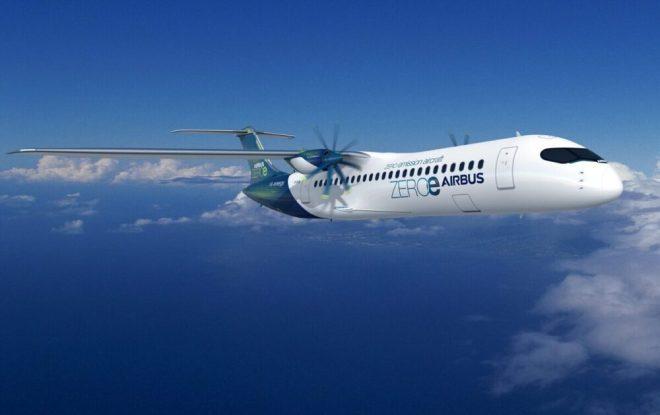 Koncept turbovrtulového vodíkového stroje společnosti Airbus