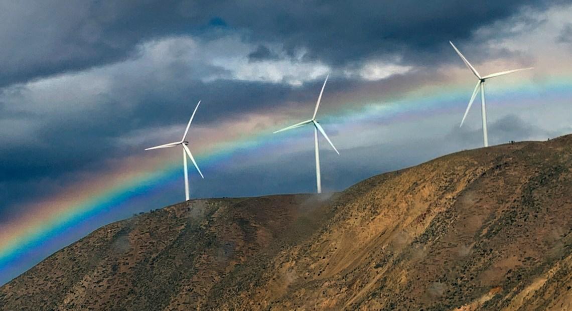 Větrné elektrárny v kalifornském okrese Kern