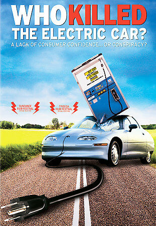 """Na motivy osudu tohoto projektu byl v roce 2006 natočen dokumentární film """"Kdo zabil elektromobil?"""", pojednávající o tom, že se o jeho konec postarala petrolejová lobby (foto Amazon)"""