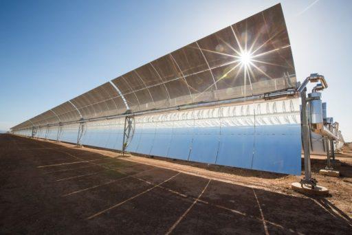 Zrcadla solární termální elektrárny společnosti Heliogen (foto Heliogen)