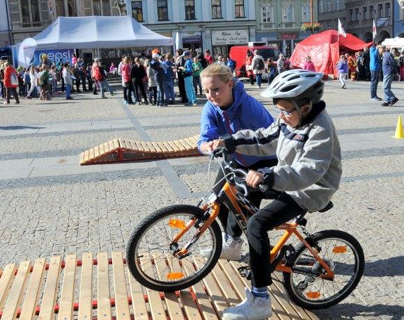 Týden mobility v Liberci s programem pro děti (foto Jana Kodymová)