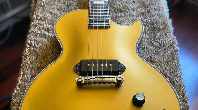 Jared James Nichols reveals a Gold Top edition of his Epiphone Old Glory LP Custom