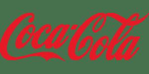 Grafika przedstawia logo Coca-Cola