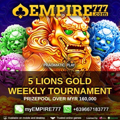 Malaysia Weekly Slot Bonus 5 lions Gold Tournament