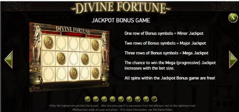 divine fortune pay table
