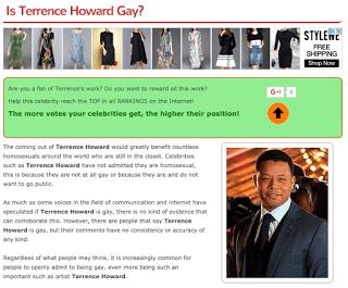 Is Terrence Howard Gay?