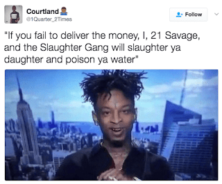 21 Savage Meme Issa Joke