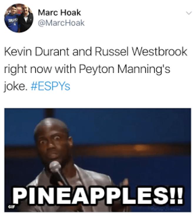 Kevin Durant Peyton Manning Memes ESPYs