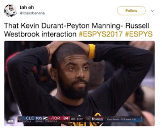 Kevin Durant Peyton Manning ESPYs Memes
