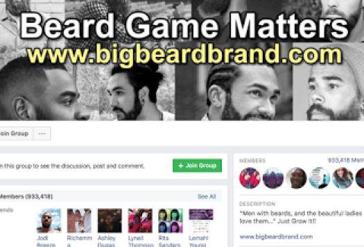 Beard Game Matters Gang Facebook Group