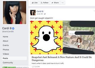 Cardi B Snapchat