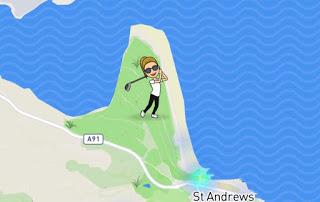 Snap Map Actionmoji Golf