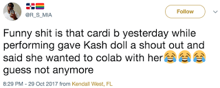 Cardi B Kash Doll Twitter Reaction
