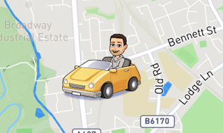 Snap Map Actionmoji Car