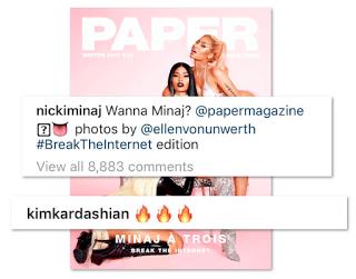 Nicki Minaj Break The Internet Kim Kardashian