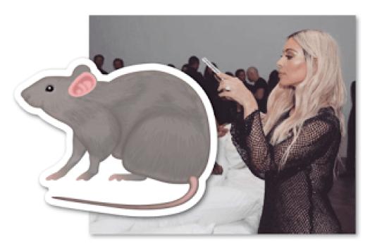 Kim Kardashian Rat Emoji