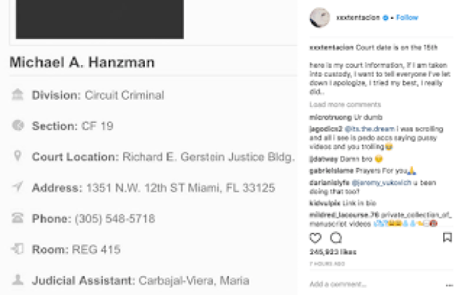 XXXTentacion 7 New Charges Michael A. Hanzman Jahseh Onfroy