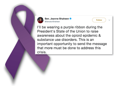 What Does The Purple Ribbon Mean?