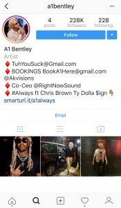 A1 Bentley Instagram
