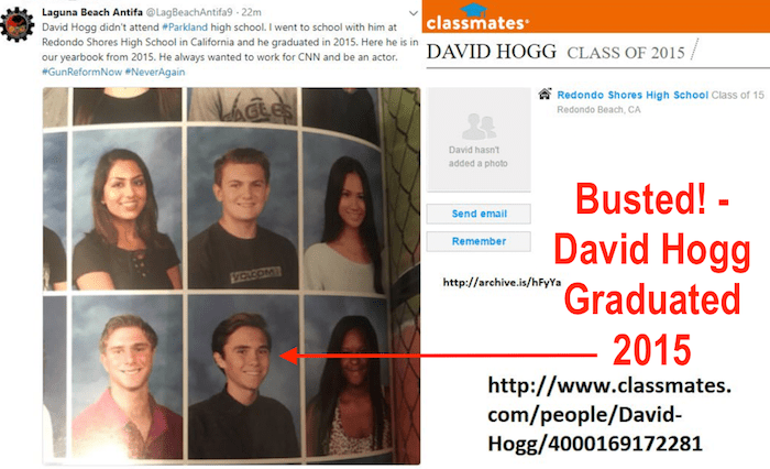 Is David Hogg A Crisis Actor? Redono Shores High School