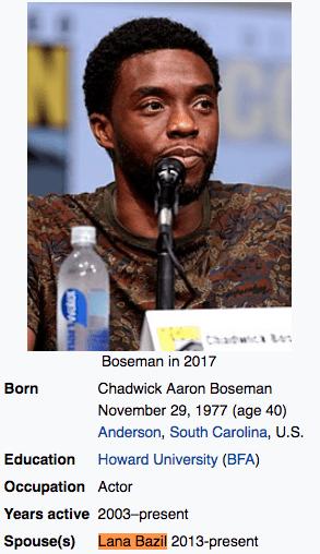 Lana Bazil Chadwick Boseman