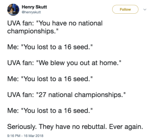 UMBC Memes UVA March Madness