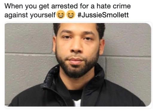 Jussie Smollett Mugshot Meme