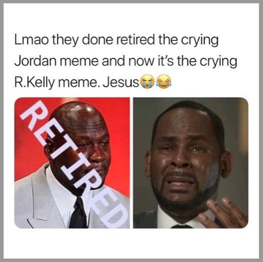 R. Kelly Crying Interview Meme Michael Jordan