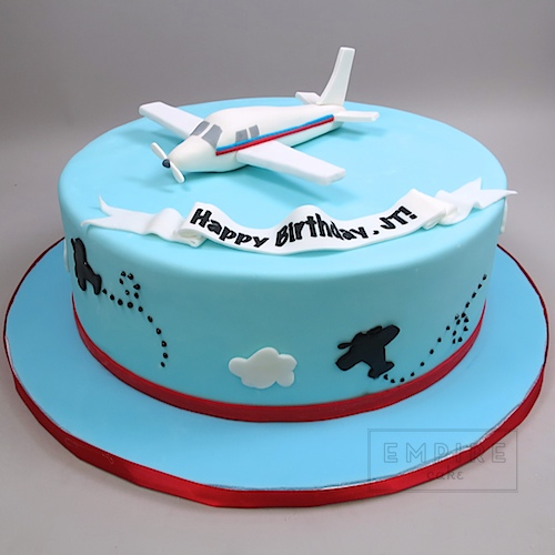 Airplane Topper Empire Cake