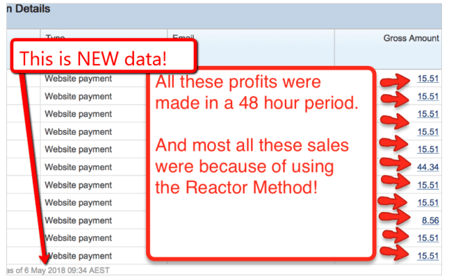 """Reactor Review - """"React"""" Your Way to $120+/day within 24 hours -May 6th 2018 proof"""