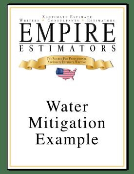 Xactimate Estimate Water Mitigation Sample