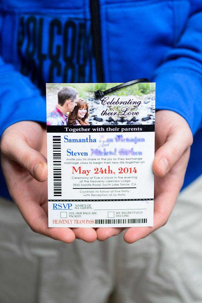 Custom Made Wedding Invitations