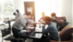 Blurred Conference Room Meeting