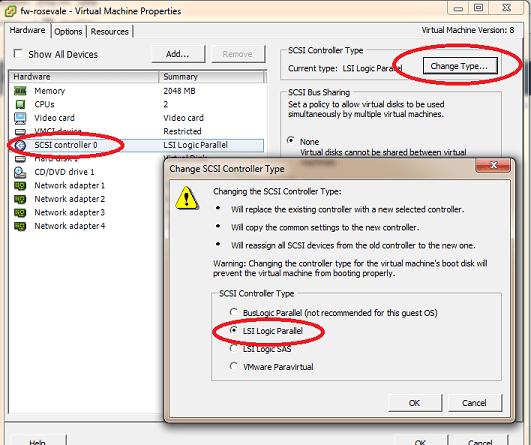 Gaia - Change SCSI Controller Type