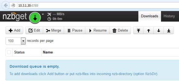 nzbget web gui