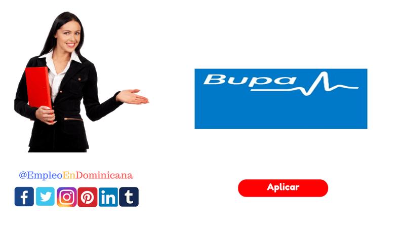 vacante para empleo en el sector de seguro de salud en Bupa en república dominicana
